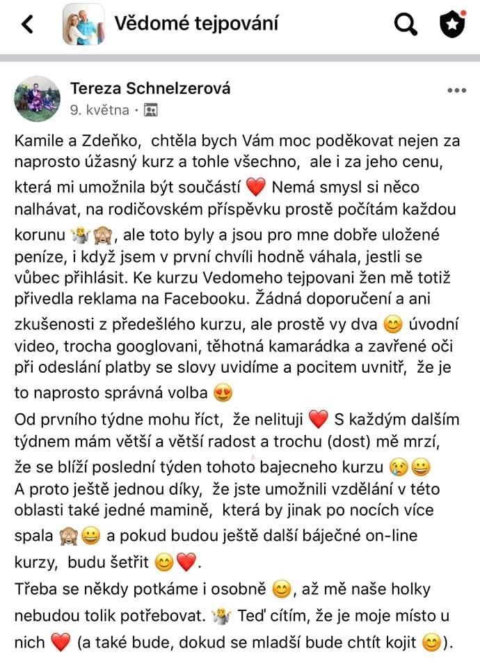 Vědomé tejpování reference Kamil Štědrák